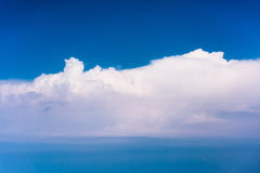 Clouds with blue sky high above the ground Royalty Free Stock Images