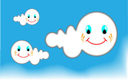 Clouds in the blue sky. Illustration in vector Stock Photos