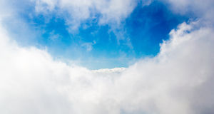 Clouds and blue sky. Landscape photography Stock Images