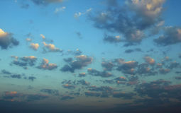 Clouds on blue sky Stock Images