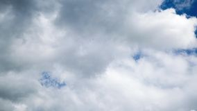 Clouds on blue sky. Moving clouds on blue sky stock video