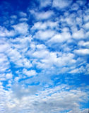 Clouds on blue sky. My blue heaven. Clouds on blue sky Stock Images