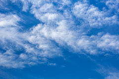 Clouds with blue sky , natural texture.  Stock Image
