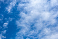 Clouds with blue sky , natural texture.  Royalty Free Stock Photos