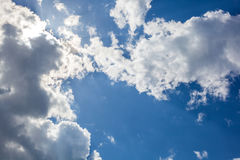 Clouds with blue sky , natural texture.  Royalty Free Stock Image