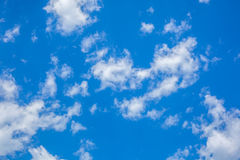 Clouds with blue sky , natural texture.  Stock Photography