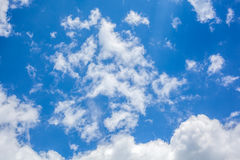 Clouds with blue sky , natural texture.  Stock Photo