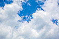 Clouds with blue sky , natural texture.  Royalty Free Stock Photography