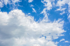 Clouds with blue sky , natural texture.  Royalty Free Stock Images