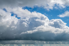 Clouds with blue sky, natural texture.  Royalty Free Stock Image