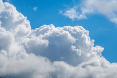 Clouds with blue sky, natural texture.  Stock Image