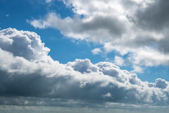 Clouds with blue sky, natural texture.  Royalty Free Stock Images
