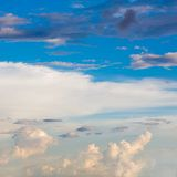 Clouds  with  blue sky. In nature Royalty Free Stock Photography
