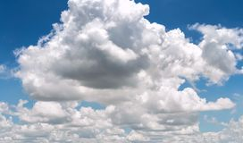 Clouds in the blue sky nature background landcape. stock photo