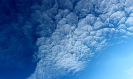 Clouds in the blue sky. Ncirrus clouds in the blue sky royalty free stock photography
