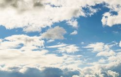 Clouds in the blue sky. Stock Photography