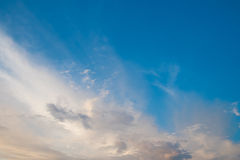 Clouds in blue sky. Perfect combination between sky and clouds Stock Images