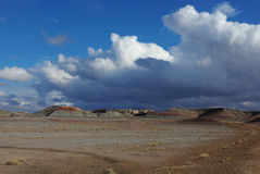 Clouds and Blue Sky on Petrified Forest. National Park, Arizona Stock Images