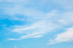 Clouds and blue sky. Photo of clouds and blue sky for composite and design work Stock Image