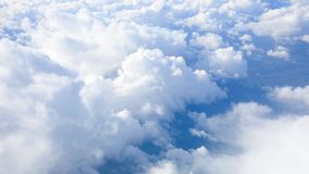 Clouds and blue sky from the plane stock footage