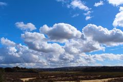 Clouds sky. Blue sky and puffy clouds Royalty Free Stock Photography