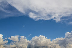 Clouds with blue sky Royalty Free Stock Images