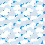 Clouds in blue sky seamless pattern Royalty Free Stock Image
