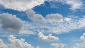 Clouds in a blue sky. Some clouds in a beautiful blue sky Royalty Free Stock Photography
