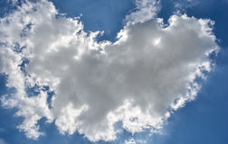 Clouds in a blue sky. Some clouds in a beautiful blue sky Stock Image