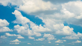 Clouds on blue sky. Suitable for background Stock Image