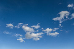 Clouds in the blue sky. Clouds and summer sky Stock Image