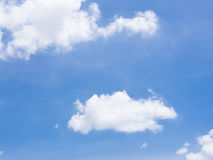 Clouds in the blue sky. In summer stock photos