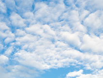 Clouds in the blue sky. Summer day royalty free stock photos