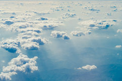 Clouds in the blue sky stock photo