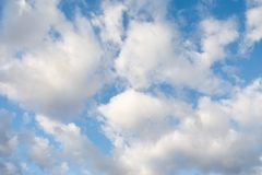 Clouds on blue sky. At sunny day Stock Photo