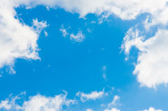 Clouds and blue sky on a sunny day Royalty Free Stock Images
