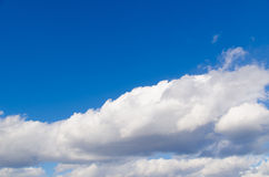 Clouds and blue sky on a sunny day Royalty Free Stock Photo
