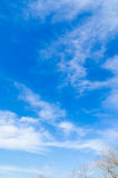 Clouds and blue sky on a sunny day Stock Photos