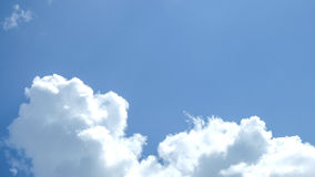 Clouds in blue sky. In the sunny day Royalty Free Stock Images