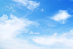 Clouds on blue sky. In a sunny day Royalty Free Stock Photography