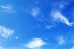 Clouds on blue sky. In a sunny day Royalty Free Stock Image