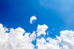 Clouds with blue sky in sunny day Stock Images