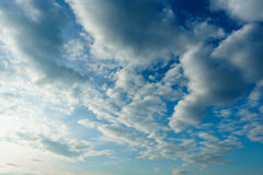 Clouds and Blue Sky in sunny day Royalty Free Stock Photography