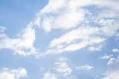 Clouds in the blue sky. In Thailand Royalty Free Stock Photography