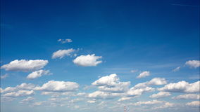 Clouds on blue sky. time lapse -4k Time Lapse stock video footage