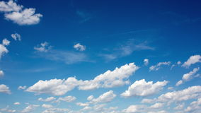 clouds on blue sky. time lapse -4k Time Lapse stock footage