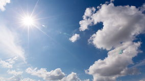Clouds on blue sky. time lapse -Time Lapse stock footage
