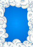 Clouds in blue sky. Vector frame Royalty Free Stock Photo