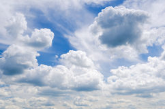 Clouds. Blue sky and white clouds Stock Image