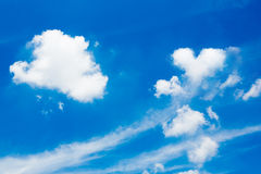 Clouds in the blue sky. White clouds in the blue sky Royalty Free Stock Photography